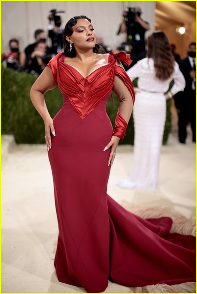 Paloma Elsesser on the Met Gala 2021 Red Carpet