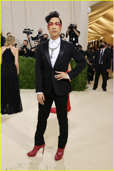Eugene Lee Yang on the Met Gala 2021 Red Carpet