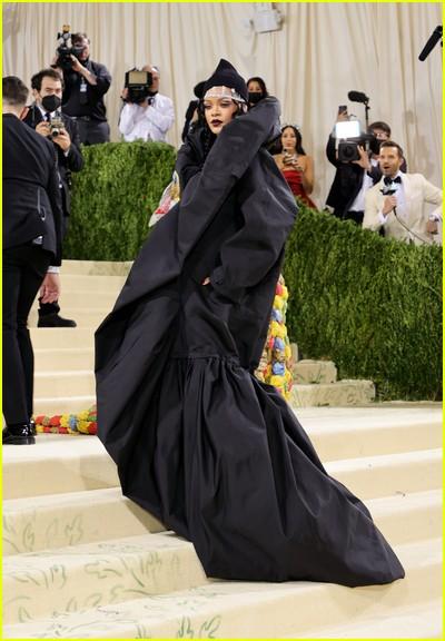 Rihanna on the Met Gala 2021 Red Carpet