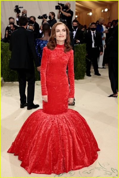 Isabelle Huppert on the Met Gala 2021 Red Carpet
