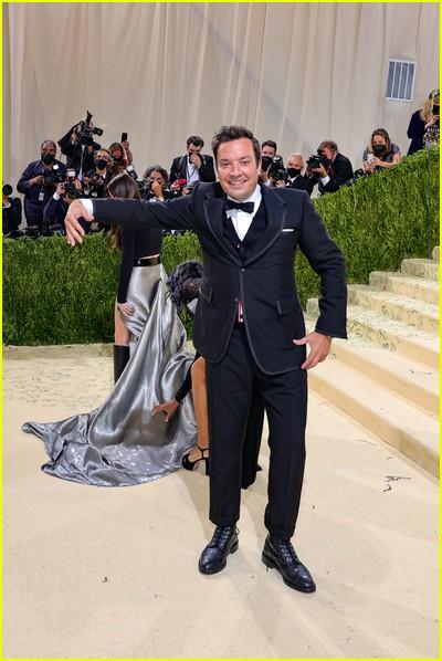 Jimmy Fallon on the Met Gala 2021 Red Carpet