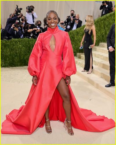 Sloane Stephens on the Met Gala 2021 Red Carpet