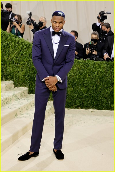 Russell Westbrook on the Met Gala 2021 Red Carpet