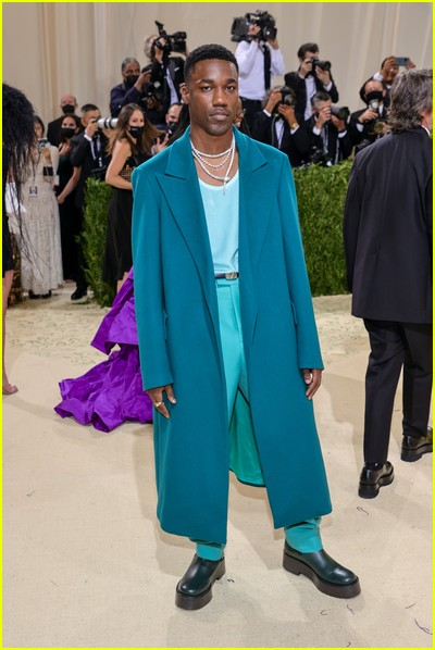 Giveon on the Met Gala 2021 Red Carpet