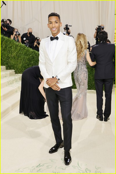 Felix Auger Aliassime on the Met Gala 2021 Red Carpet