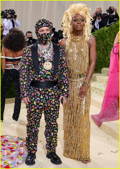 J Balvin and Symone on the Met Gala 2021 Red Carpet