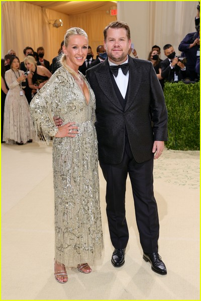 James Corden and wife Julia Carey on the Met Gala 2021 Red Carpet