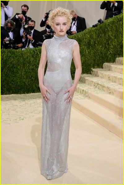 Julia Garner on the Met Gala 2021 Red Carpet