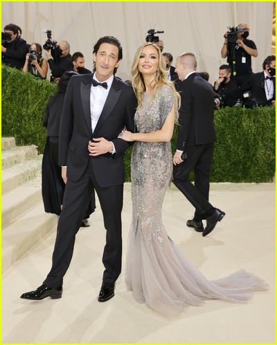 Adrien Brody and Georgina Chapman on the Met Gala 2021 Red Carpet