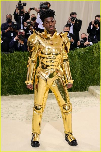 Lil Nas X on the Met Gala 2021 Red Carpet