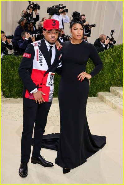 Chance the Rapper and Kirsten Corley on the Met Gala 2021 Red Carpet
