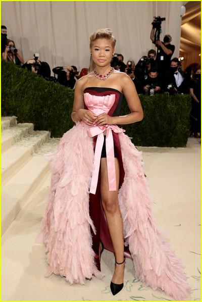 Storm Reid on the Met Gala 2021 Red Carpet
