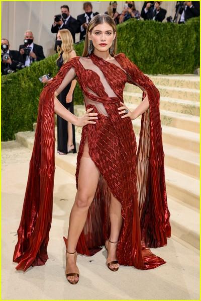 Valentina Sampaio on the Met Gala 2021 Red Carpet