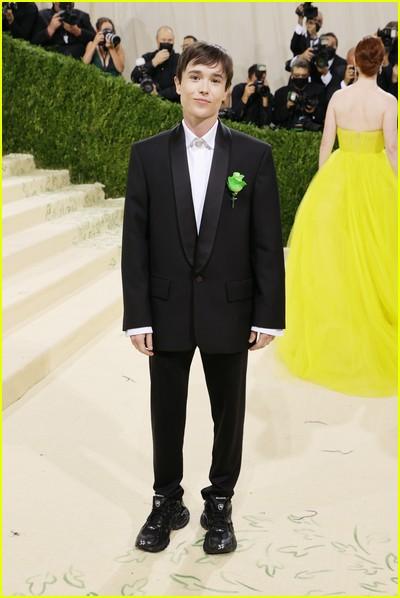 Elliot Page on the Met Gala 2021 Red Carpet