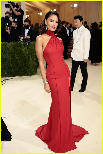 Eiza Gonzalez on the Met Gala 2021 Red Carpet