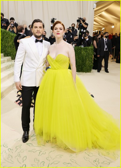 Kit Harington and Rose Leslie on the Met Gala 2021 Red Carpet