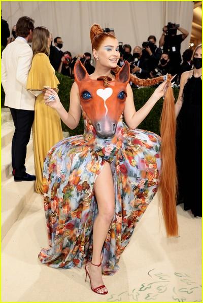Kim Petras on the Met Gala 2021 Red Carpet