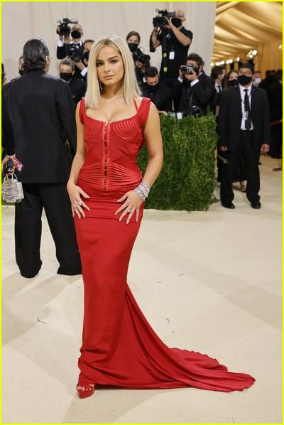 Addison Rae on the Met Gala 2021 Red Carpet
