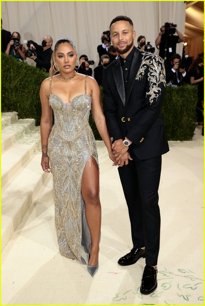 Steph Curry and Ayesha Curry on the Met Gala 2021 Red Carpet