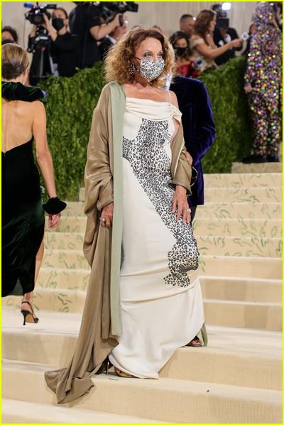 Diane von Furstenberg on the Met Gala 2021 Red Carpet