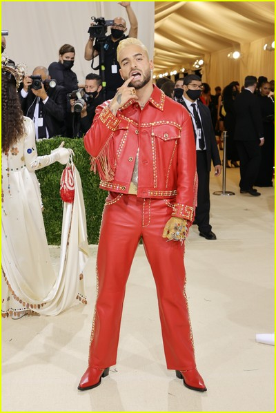Maluma on the Met Gala 2021 Red Carpet