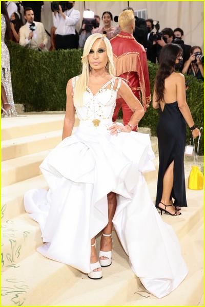 Donatella Versace on the Met Gala 2021 Red Carpet