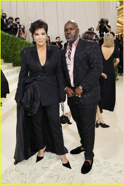 Kris Jenner and Corey Gamble on the Met Gala 2021 Red Carpet