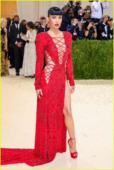 Megan Fox on the Met Gala 2021 Red Carpet