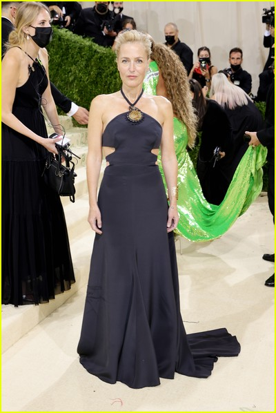 Gillian Anderson on the Met Gala 2021 Red Carpet