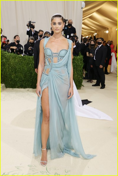 Taylor Hill on the Met Gala 2021 Red Carpet