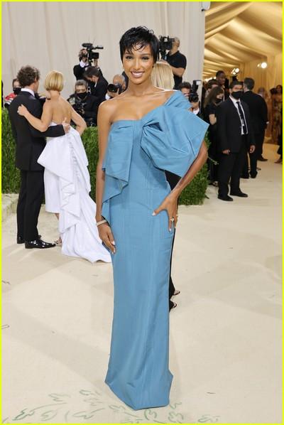 Jasmine Tookes on the Met Gala 2021 Red Carpet