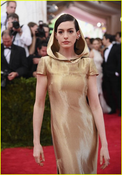 Anne Hathaway at a previous Met Gala
