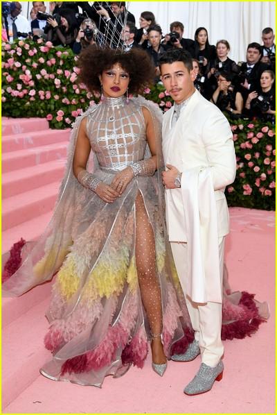 Priyanka Chopra and Nick Jonas at a previous Met Gala