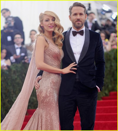 Blake Lively and Ryan Reynolds at a previous Met Gala