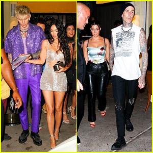 Megan Fox & Machine Gun Kelly Join Kourtney Kardashian & Travis Barker For Dinner After VMAs