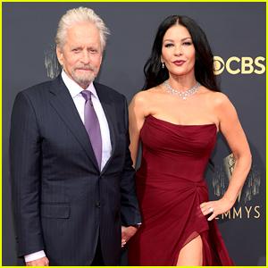 Michael Douglas & Catherine Zeta-Jones Are Picture Perfect at Emmys 2021