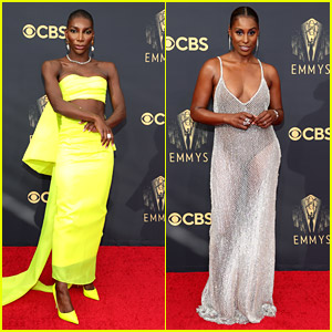 Emmy Awards Nominees Michaela Coel & Issa Rae Dress To Impress On The Red Carpet