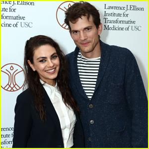 Mila Kunis & Ashton Kutcher Make Rare Red Carpet Appearance at Grand Opening of Lawrence J. Ellison Institute