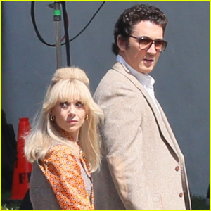 Miles Teller & Juno Temple Get Into Character Filming 'The Godfather' Making-Of Series 'The Offer'