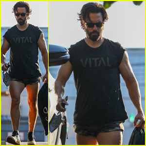 Milo Ventimiglia Gets In a Workout Before Emmy Awards 2021