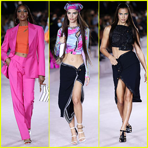 Naomi Campbell & Emily Ratajkowski Hit The Runway For Versace in Milan