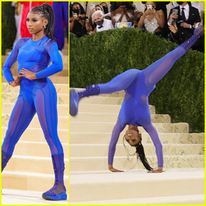 UCLA Gymnast Nia Dennis Performs a Jaw-Dropping Floor Routine at the 2021 Met Gala