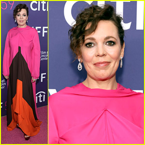 Olivia Colman Arrives Fashionably Late For 'The Lost Daughter' Premiere
