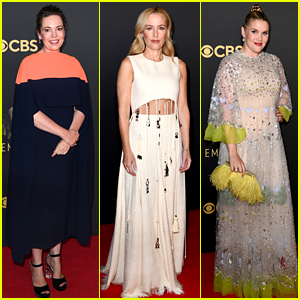 The Crown's Olivia Colman, Gillian Anderson, & Emerald Fennell Gather for Emmys 2021 in London!