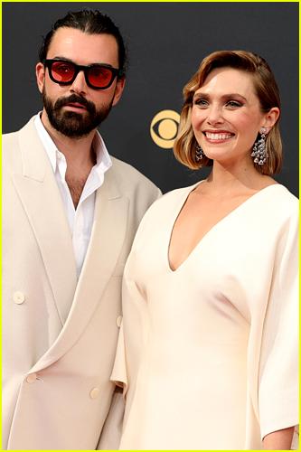 Elizabeth Olsen and husband at Emmys
