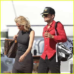 Diane Kruger & Ray Nicholson Film 'Out of the Blue' on a Yacht in Newport