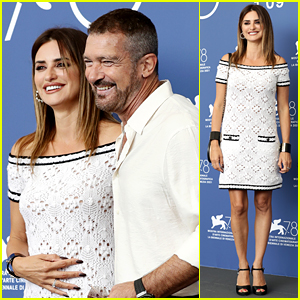 Penelope Cruz Looks Classic in Chanel at Her Venice Photo Call with Antonio Banderas!