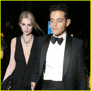 Rami Malek Brings Lucy Boynton to 'No Time to Die' After Party