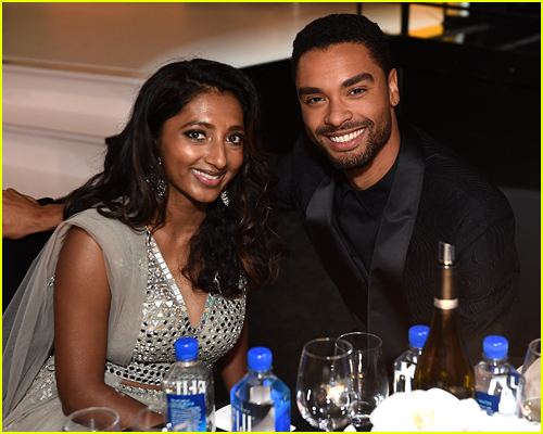 Rege-Jean Page and Menik Gooneratne at the Emmys
