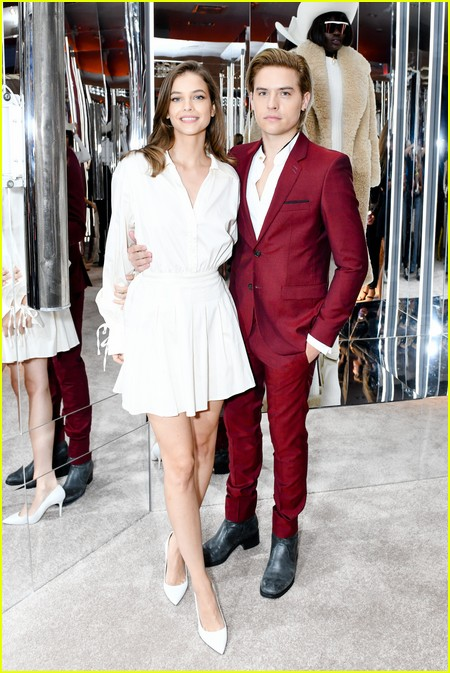 Dylan Sprouse and Barbara Palvin at the Revolve Gallery event during NYFW